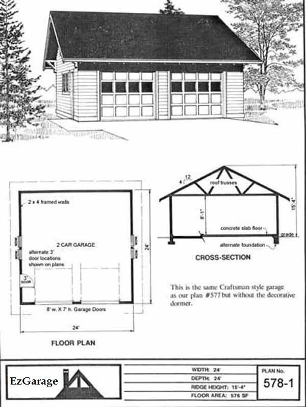 Ez garage plans for 24x24 garage apartment plans