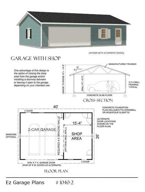 Ez garage plans for Simple garage plans free