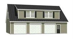 Ezgaragegambrel for 3 bay garage apartment plans
