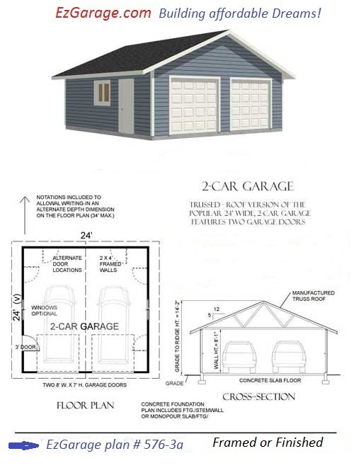free home plans concrete garage plans