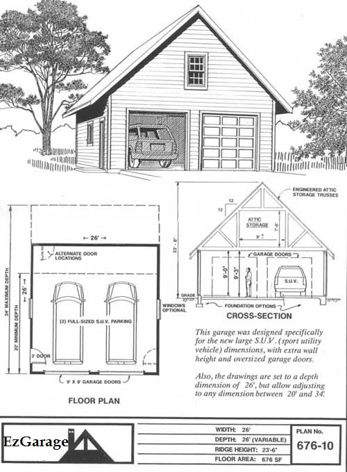 Garage Plan Kits Floor Plans