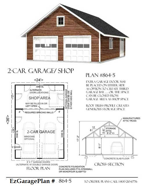 Free home plans garage plan prices for Free garage plans online