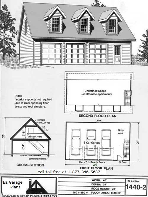 Sd Complete 24x32 Garage Plans With Loft
